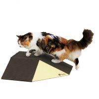 高齢猫の段差移動をサポートするダンボール製スロープ