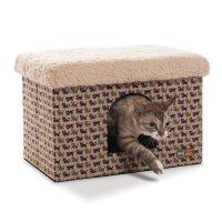 総猫柄のボックス型キャットハウス