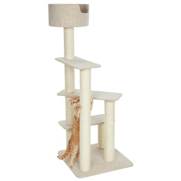 デニムカラーのおしゃれなキャットタワー