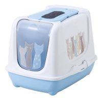猫がマサイ族風に描かれたキャットトイレ