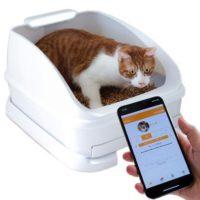 トイレの回数を自動的に記録できるスマートキャットトイレ