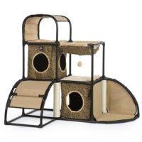 仔猫から老猫まで楽しめるジャングルジム風キャットタワー