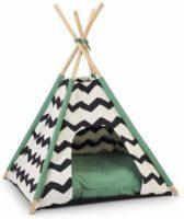 木製のスティックで簡単につくれるテント型キャットハウス
