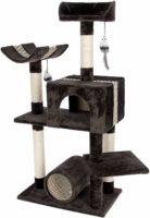 猫が快適にくつろげるパーツを詰め込んだキャットタワー